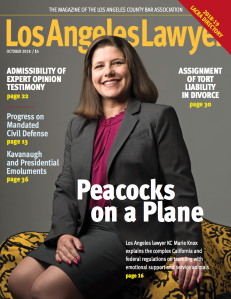 Cover of Los Angeles Lawyer Magazine
